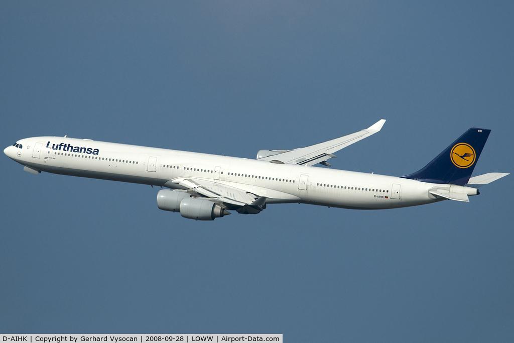 D-AIHK, 2004 Airbus A340-642 C/N 580, Maintenance Guest @ Vienna