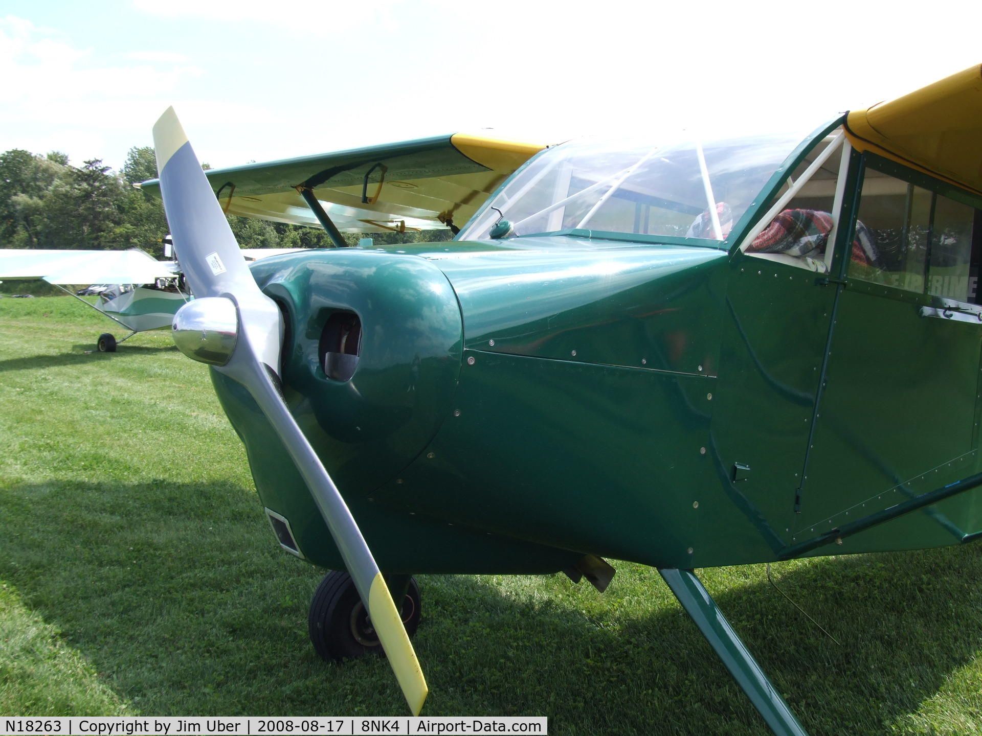 N18263, 2001 Wittman Buttercup C/N 001X, Front view of the Buttercup