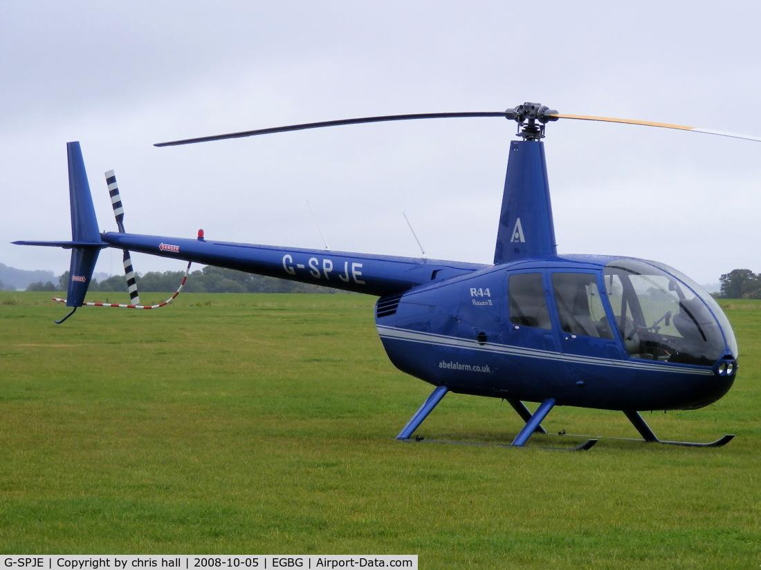 G-SPJE, 2007 Robinson R44 Raven II C/N 12026, Abel Alarm Co Ltd