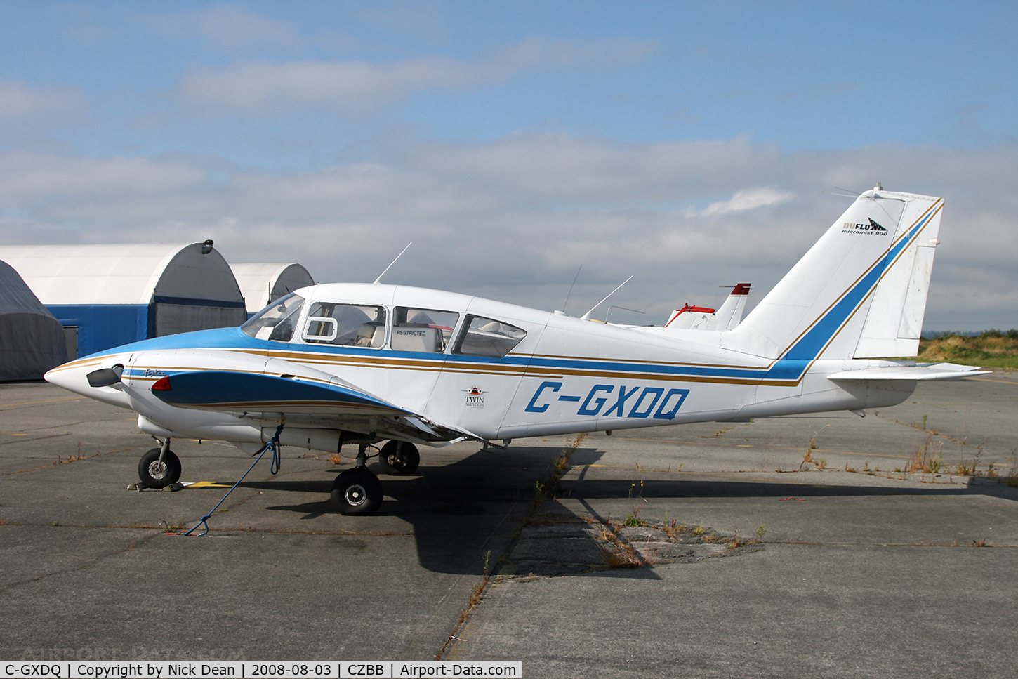 C-GXDQ, 1961 Piper PA-23-250 Aztec C/N 27-396, Boundary Bay BC (the 2nd infiltration)