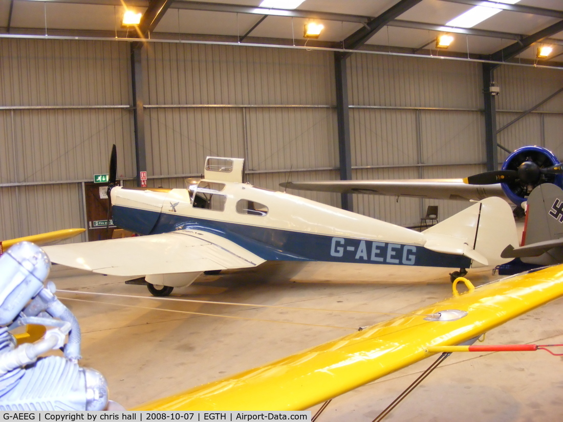G-AEEG, 1936 Miles M-3A Falcon Major C/N 216, The Shuttleworth Collection, Old Warden