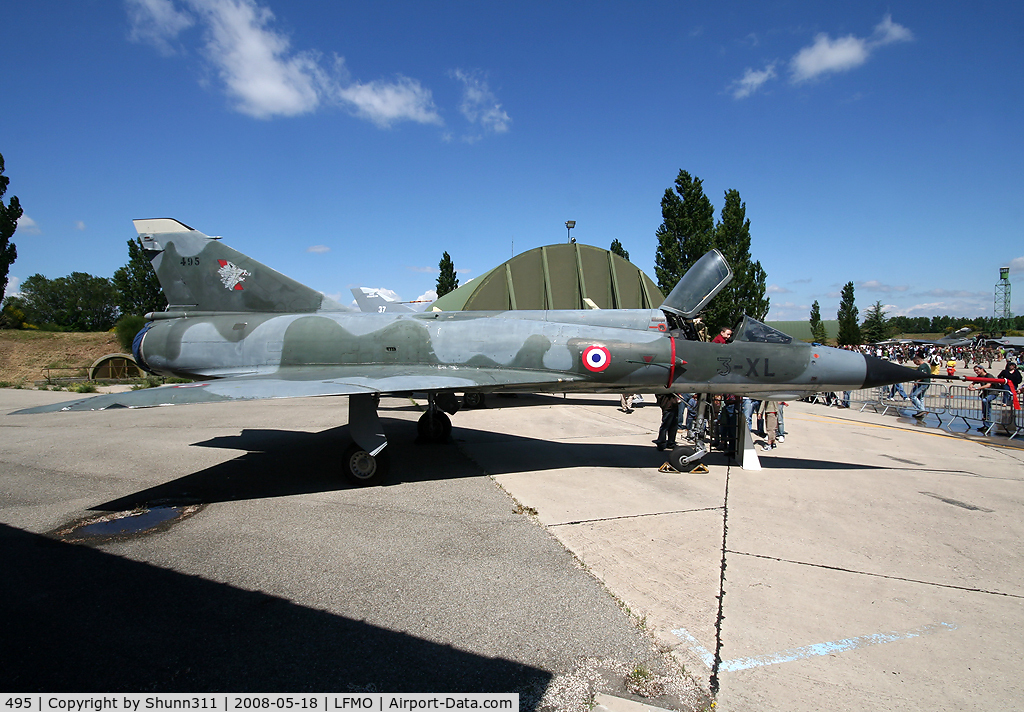 495, Dassault Mirage IIIE C/N 495, Static display for this old Mirage during LFMO Airshow 2008