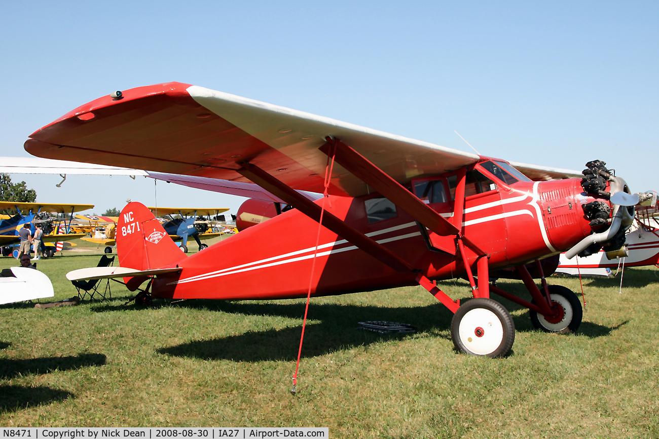 N8471, 1929 Stinson SM-2AA C/N 1069, /