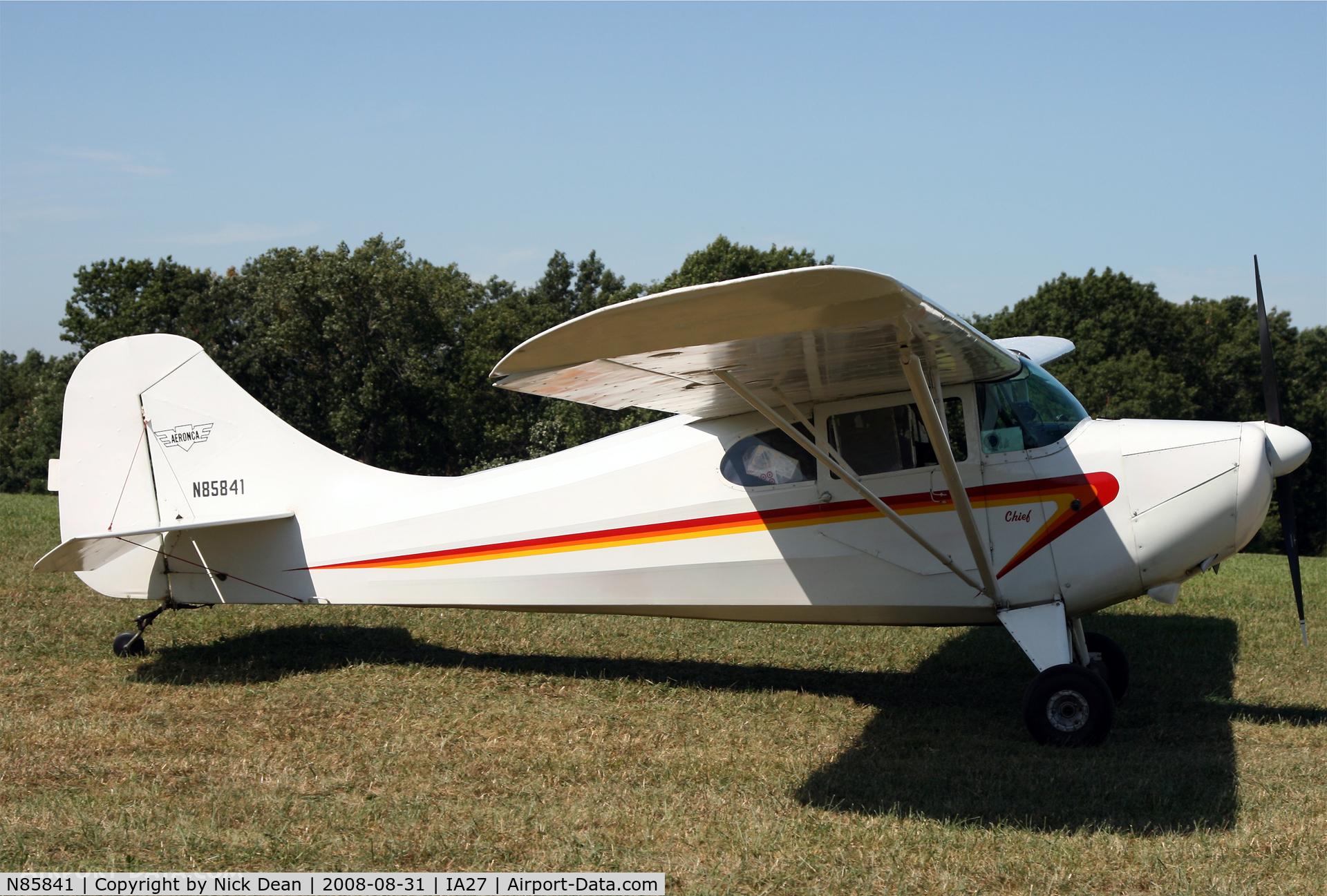 N85841, 1946 Aeronca 11AC Chief C/N 11AC-210, /