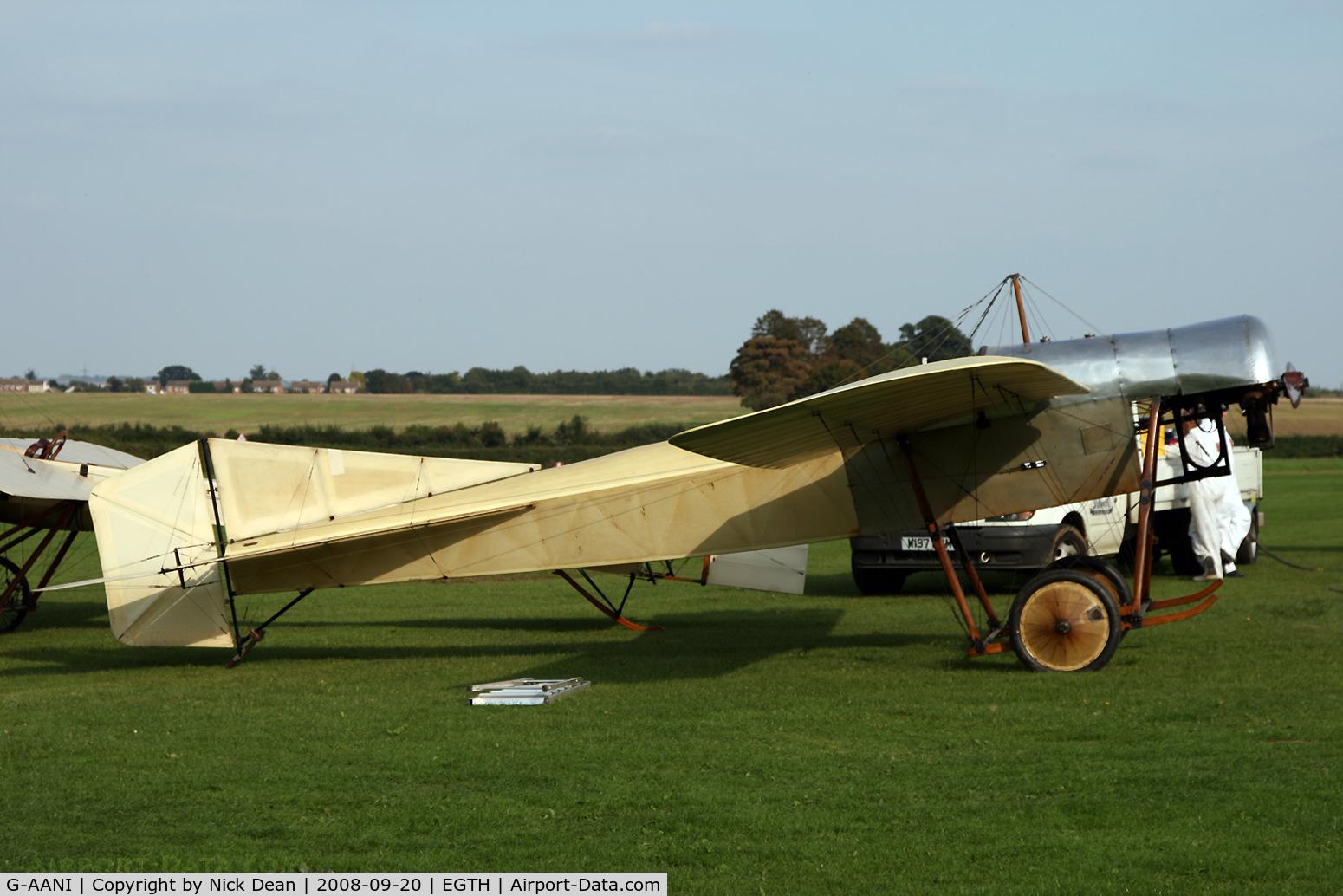 G-AANI, 1912 Blackburn Monoplane C/N 9, Old Warden (the oldest airworthy British registered aircraft)