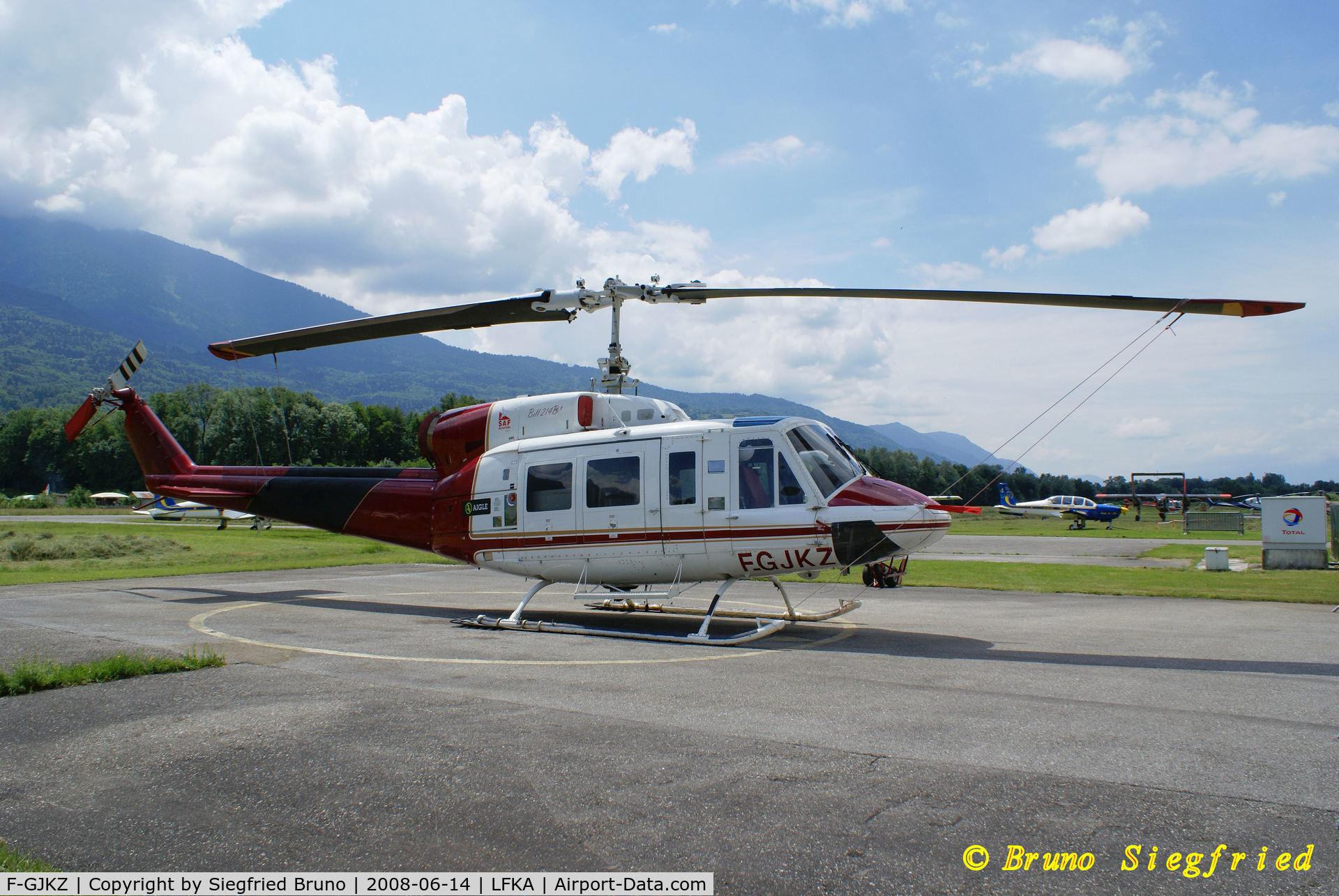 F-GJKZ, Bell 214B-1 C/N 28066, Albertville- Tournon