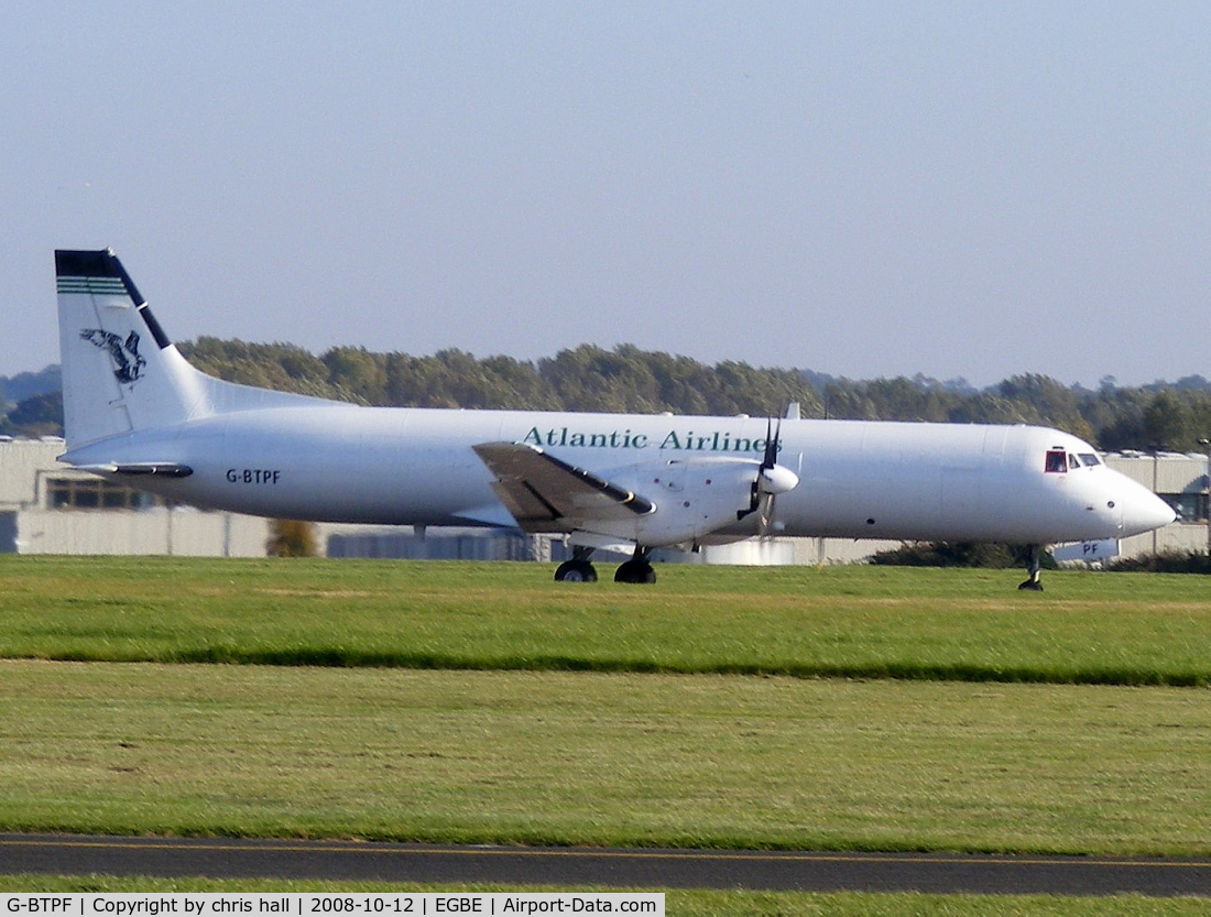 G-BTPF, 1989 British Aerospace ATP(F) C/N 2013, ATLANTIC AIRLINES