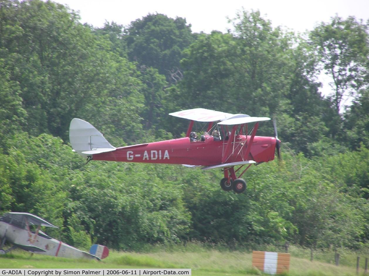 G-ADIA, 1935 De Havilland DH-82A Tiger Moth II C/N 3368, Moth at Old Warden