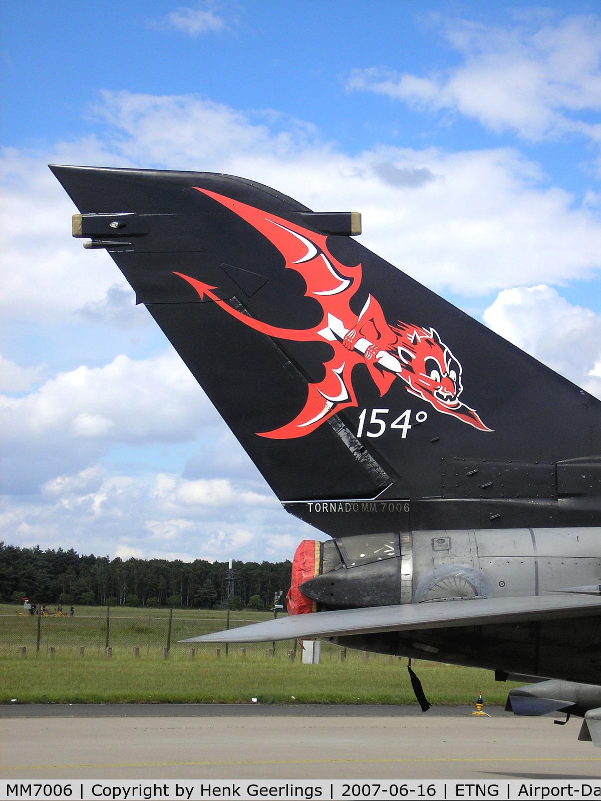 MM7006, 1982 Panavia Tornado IDS C/N 102/IS005/5008, NATO 25 yrs Geilenkirchen AFB  Italian AF Spcl cs Tail
