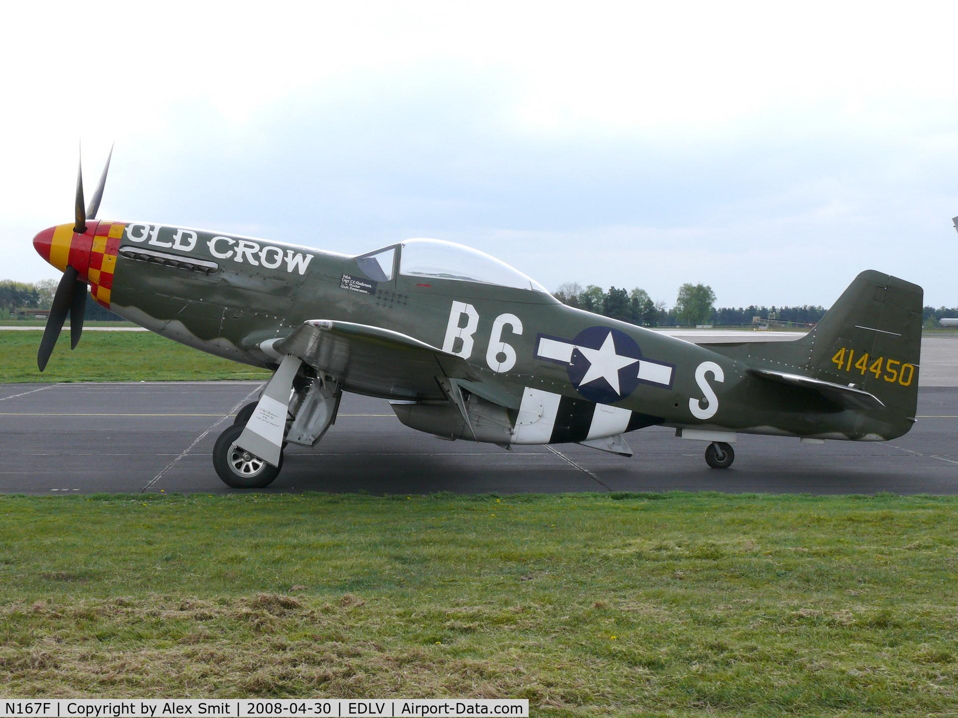 N167F, 1944 North American P-51D Mustang C/N 122-40417, North American P-51D Mustang N167F as US Air Force 44-14450/B6-S/Old Crow