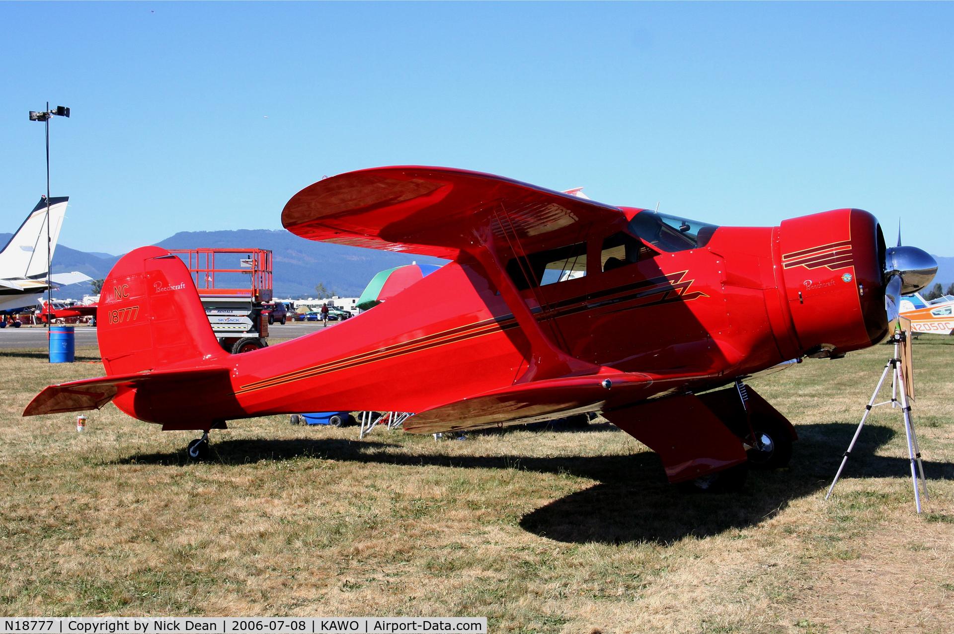 N18777, 1938 Beech D17S Staggerwing C/N 200, /