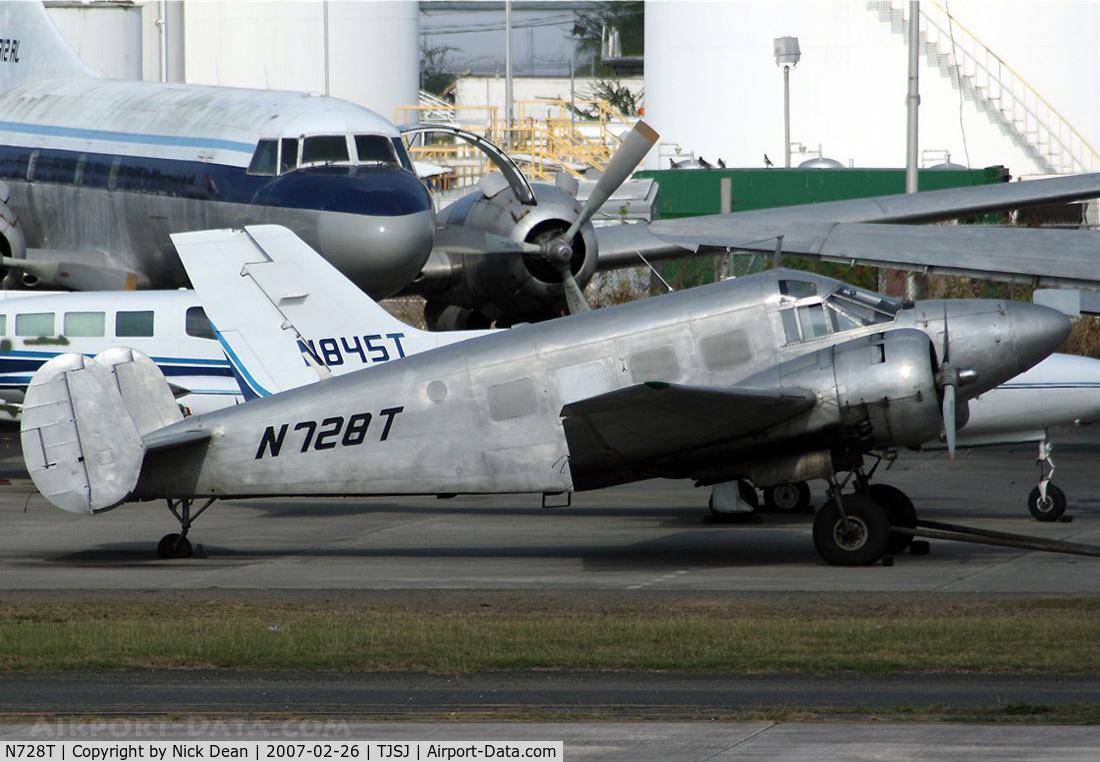 N728T, 1956 Beech E18S C/N BA-130, /