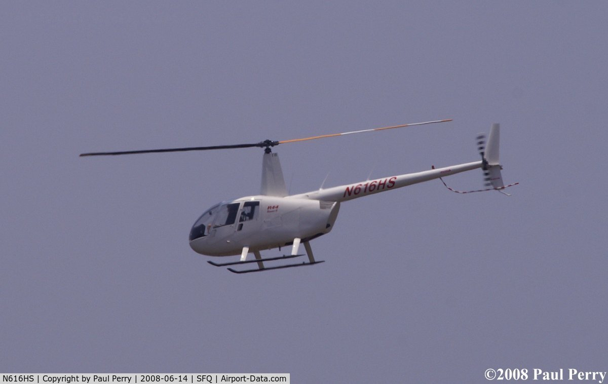 N616HS, 2004 Robinson R44 II C/N 10449, Over SFQ during the fly-in