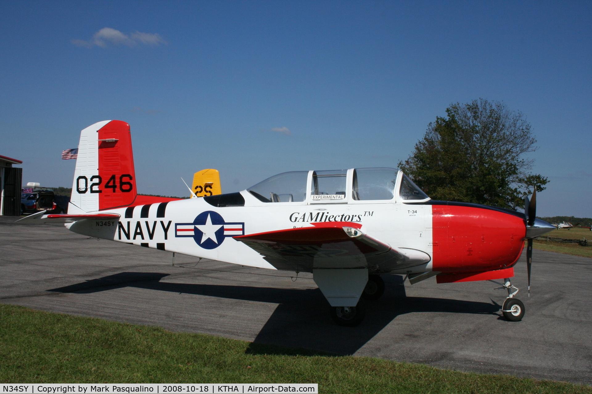 N34SY, 1956 Beech D-45 Mentor C/N BG-246, Beech T-34B