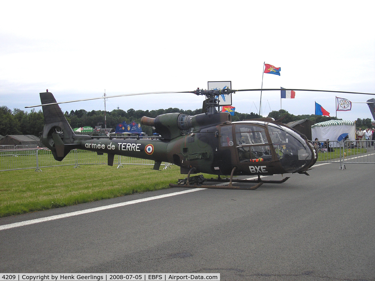 4209, Aérospatiale SA-342L-1 Gazelle C/N 2209, Belgian Defence Day - Florennes July 2008  - French Army