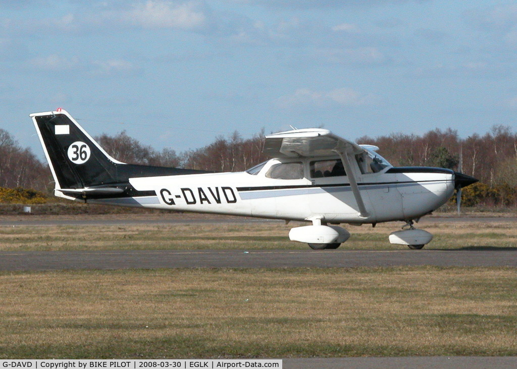 G-DAVD, 1978 Reims FR172K Hawk XP C/N 0632, CARRYING RACE NUMBER
