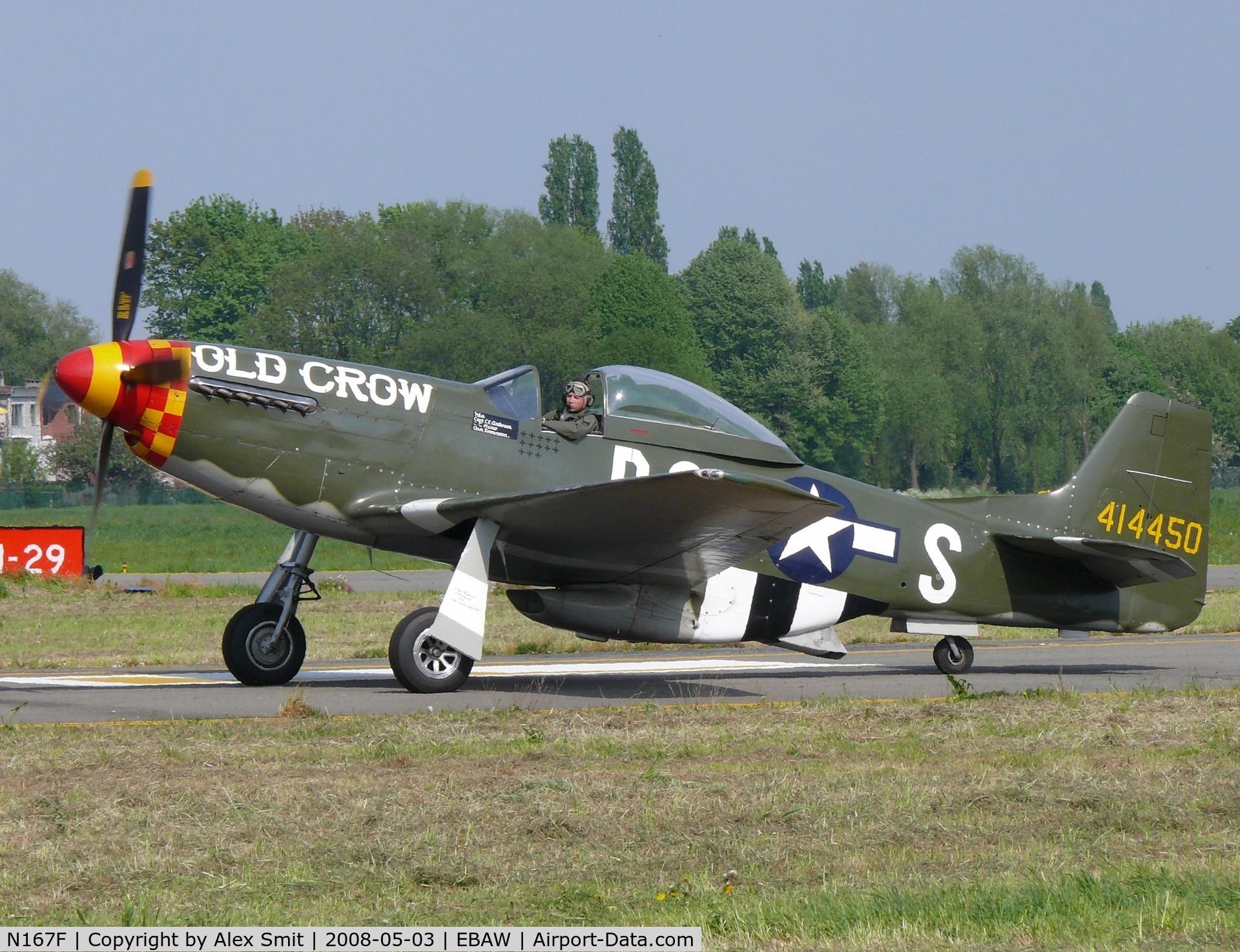 N167F, 1944 North American P-51D Mustang C/N 122-40417, North American P-51D Mustang N167F painted as USAF 414450/B6-S Old Crow