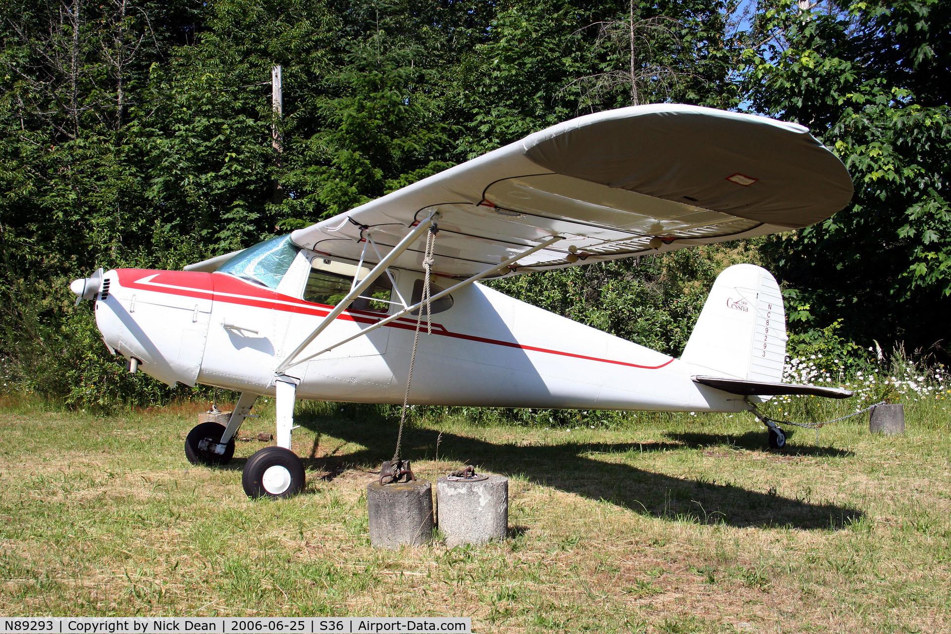 N89293, 1946 Cessna 140 C/N 8319, /