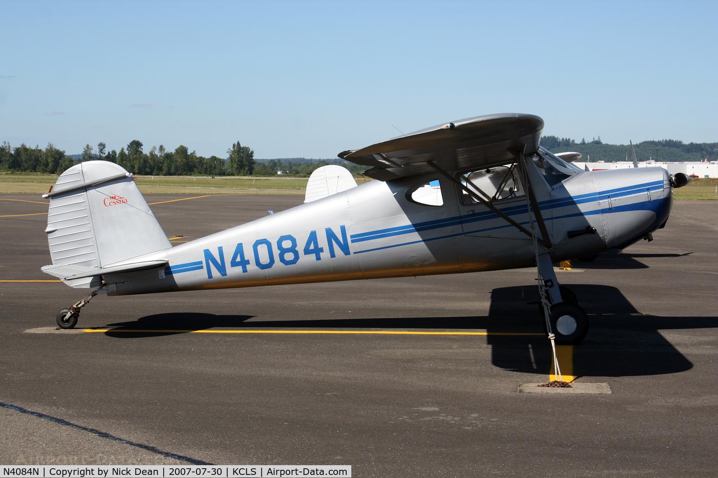 N4084N, 1947 Cessna 140 C/N 13542, /