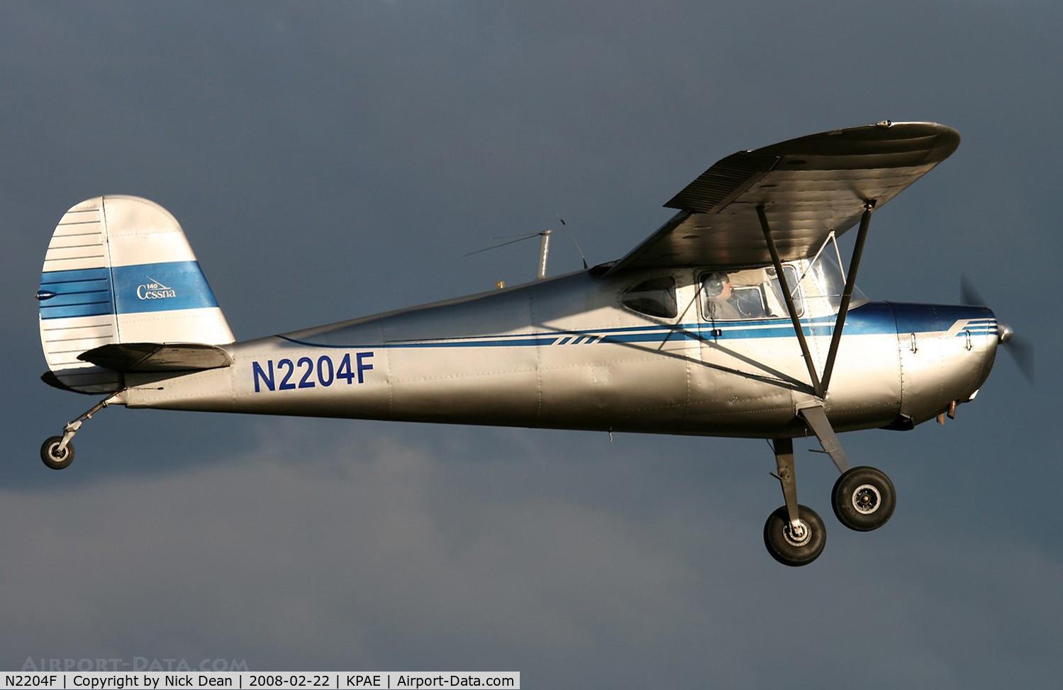 N2204F, 1948 Cessna 140 C/N 14890, Canon Rebel Xti & 100-400L IS