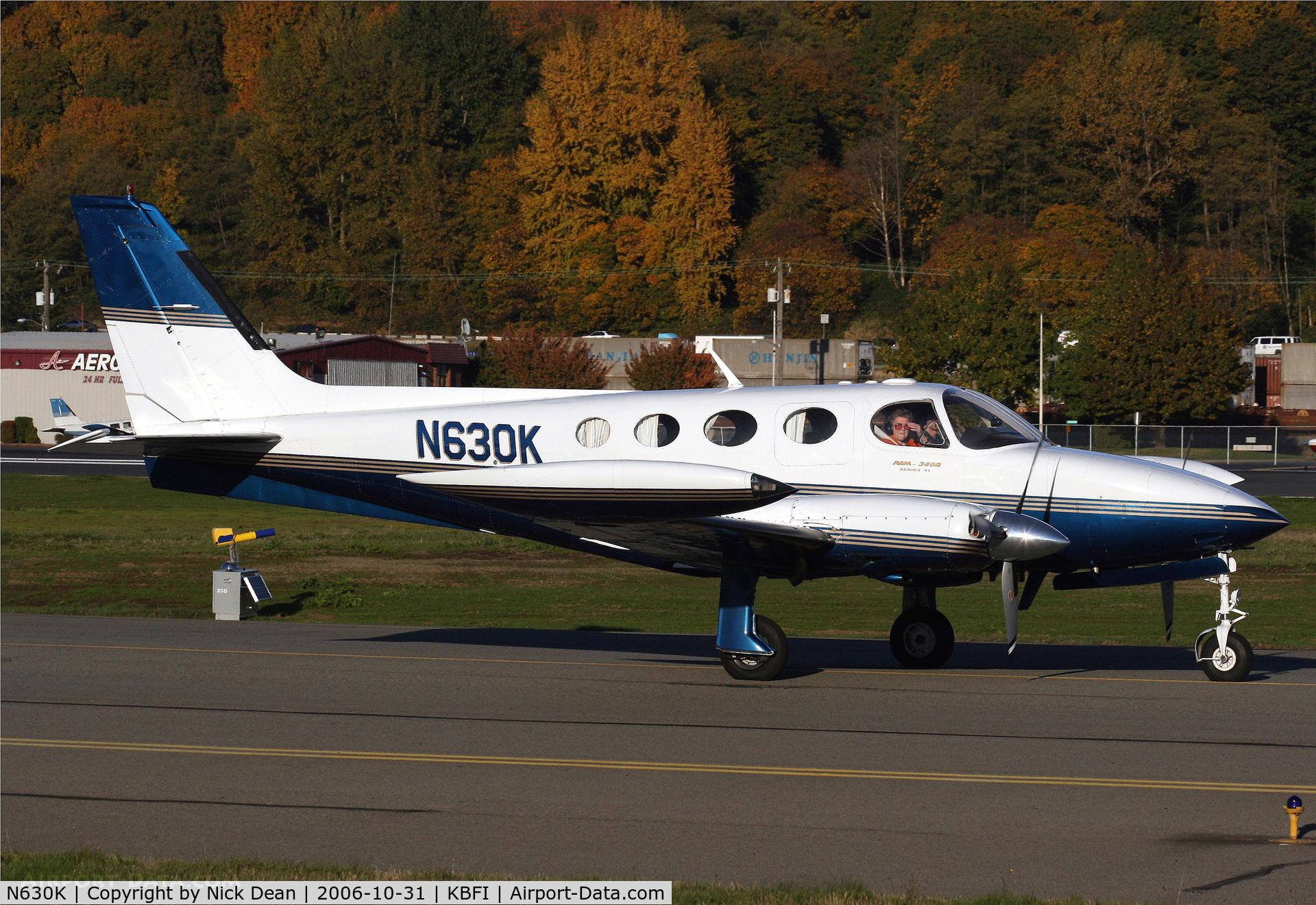 N630K, 1978 Cessna 340A C/N 340A0561, .