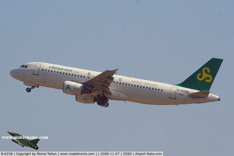 B-6258, 1998 Airbus A320-214 C/N 0879, Spring Airlines