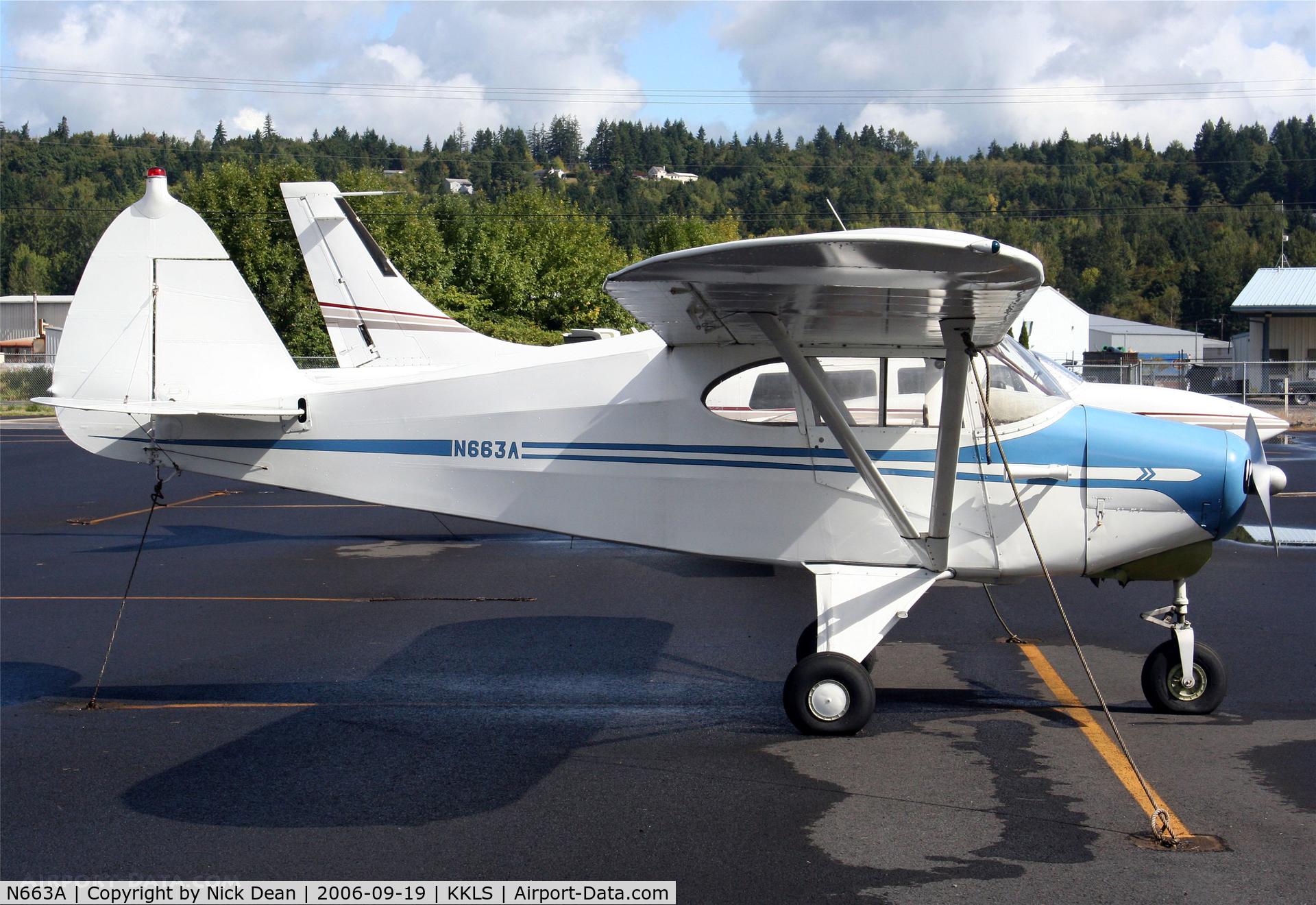 N663A, 1951 Piper PA-22 C/N 22-66, .