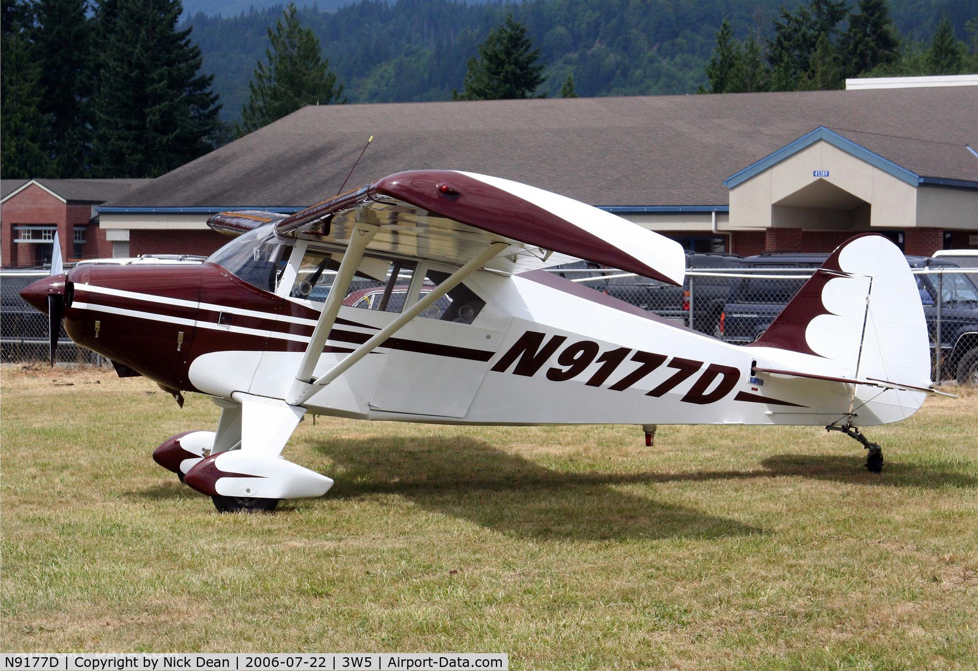N9177D, 1958 Piper PA-22-160 Tri Pacer C/N 22-6234, .