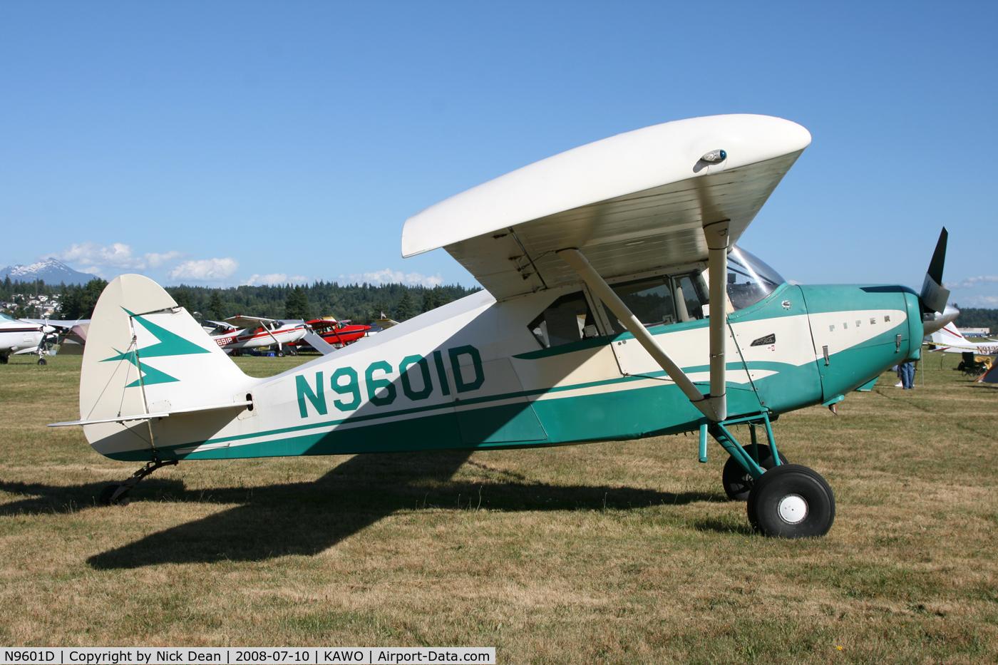N9601D, 1958 Piper PA-22-160 Tri Pacer C/N 22-6510, .