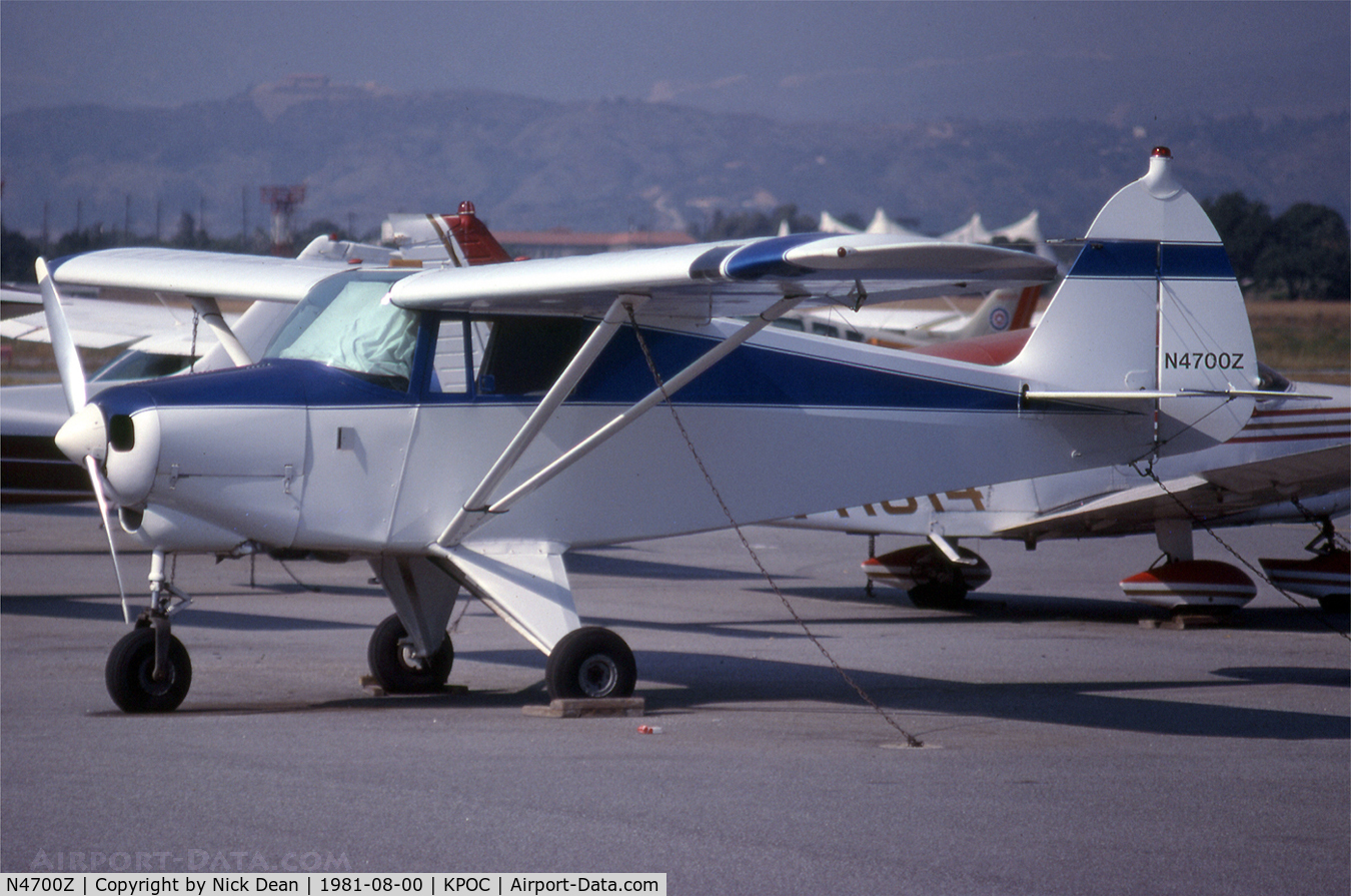 N4700Z, 1961 Piper PA-22-108 Colt C/N 22-8241, .