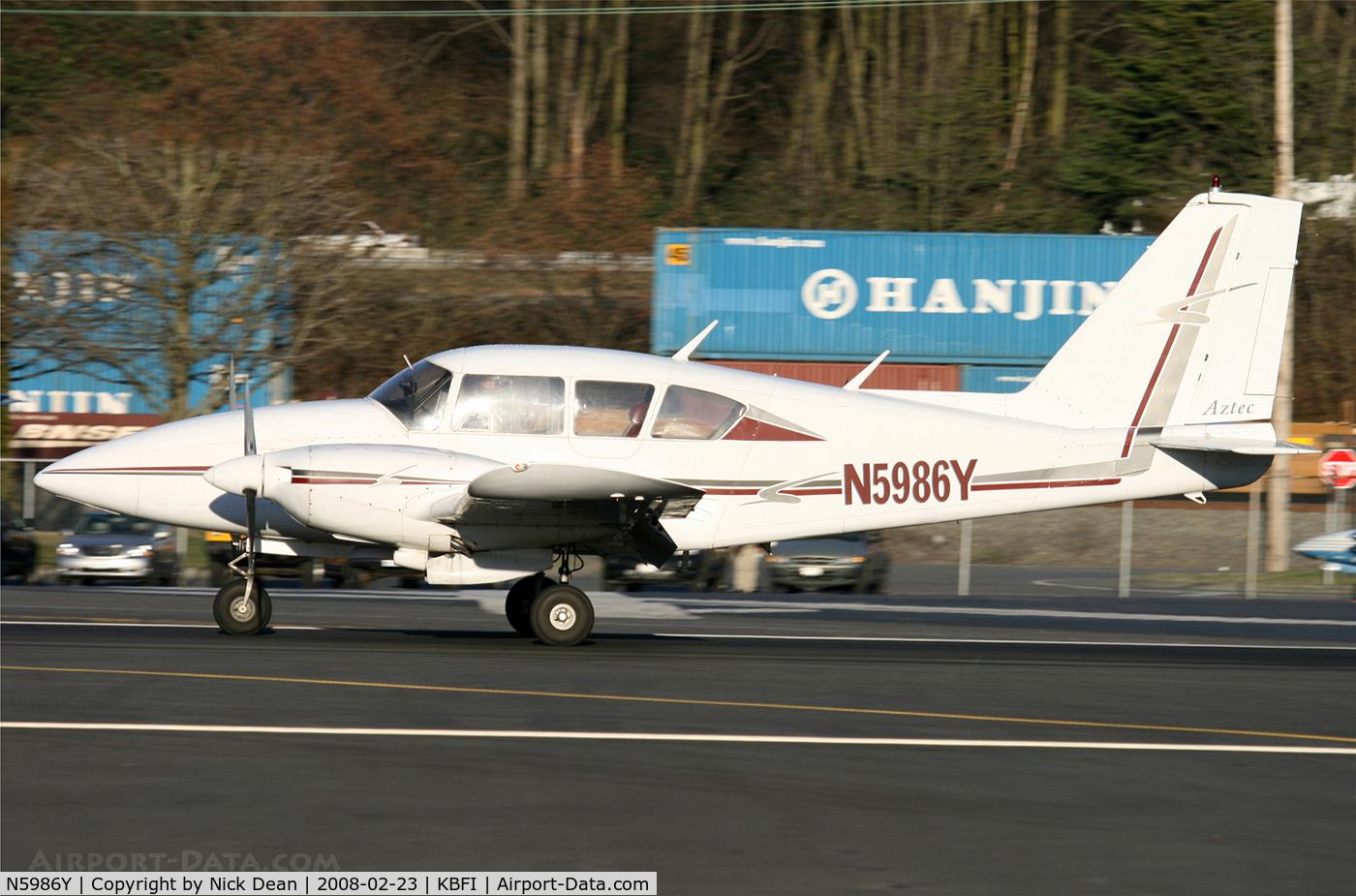 N5986Y, 1966 Piper PA-23-250 C/N 27-3159, .