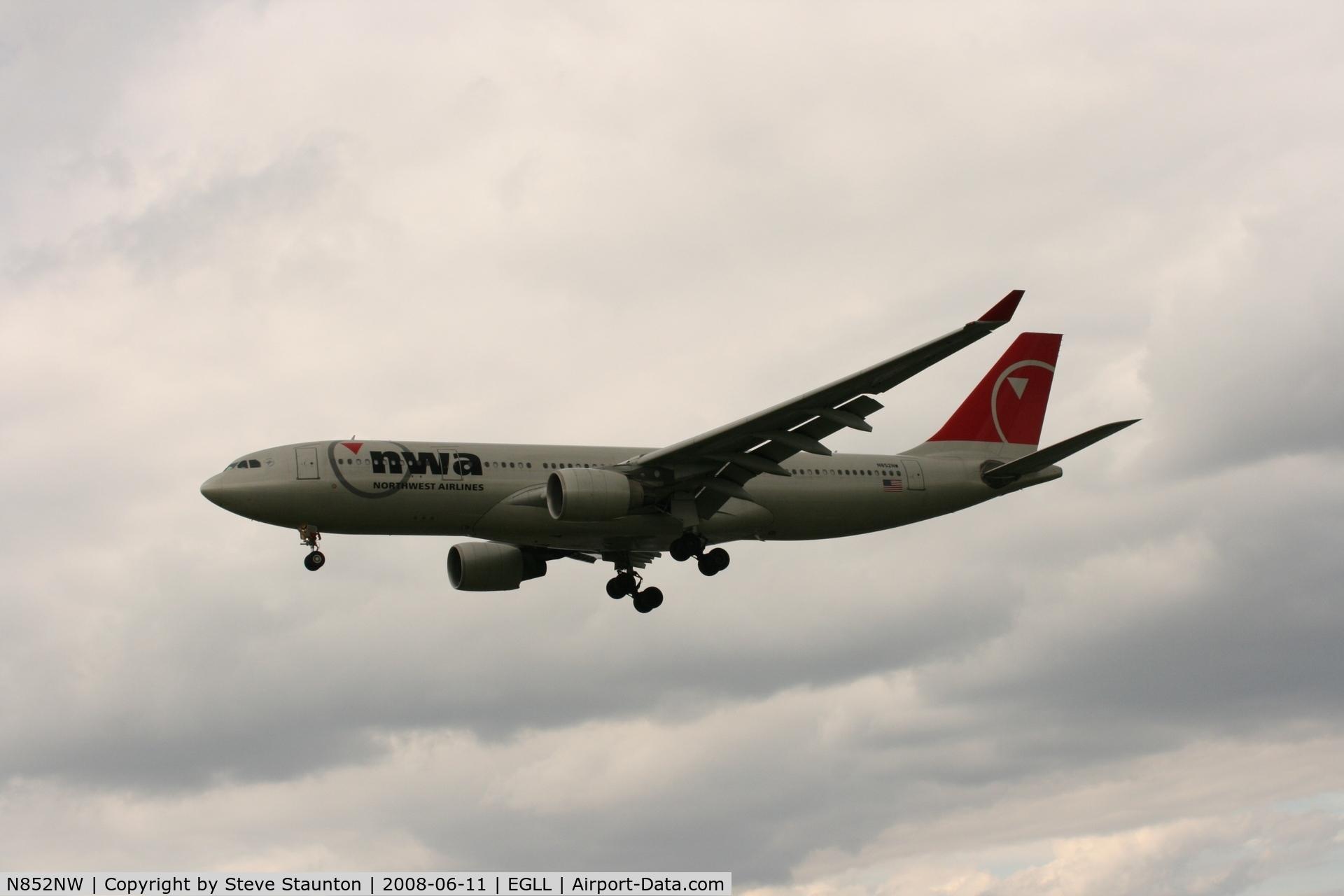 N852NW, 2004 Airbus A330-223 C/N 0614, Taken at London Heathrow 11th June 2008