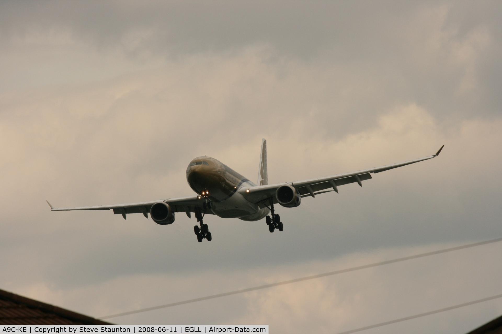 A9C-KE, 2000 Airbus A330-243 C/N 334, Taken at London Heathrow 11th June 2008