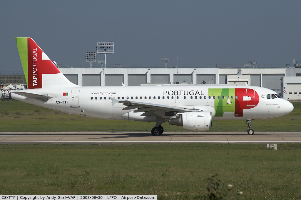 CS-TTF, 1998 Airbus A319-111 C/N 837, TAP A319