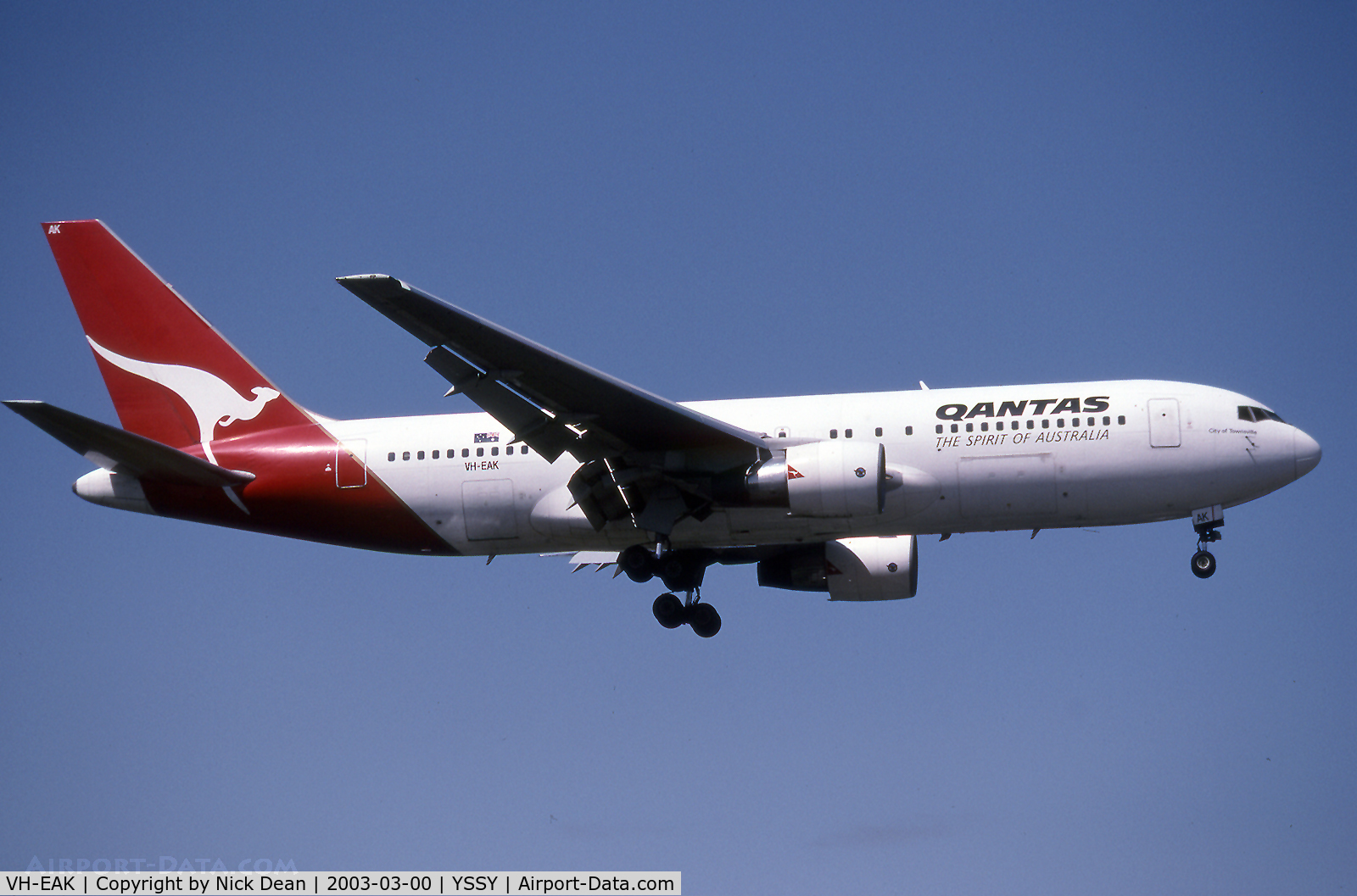 VH-EAK, 1985 Boeing 767-238/ER C/N 23305, .