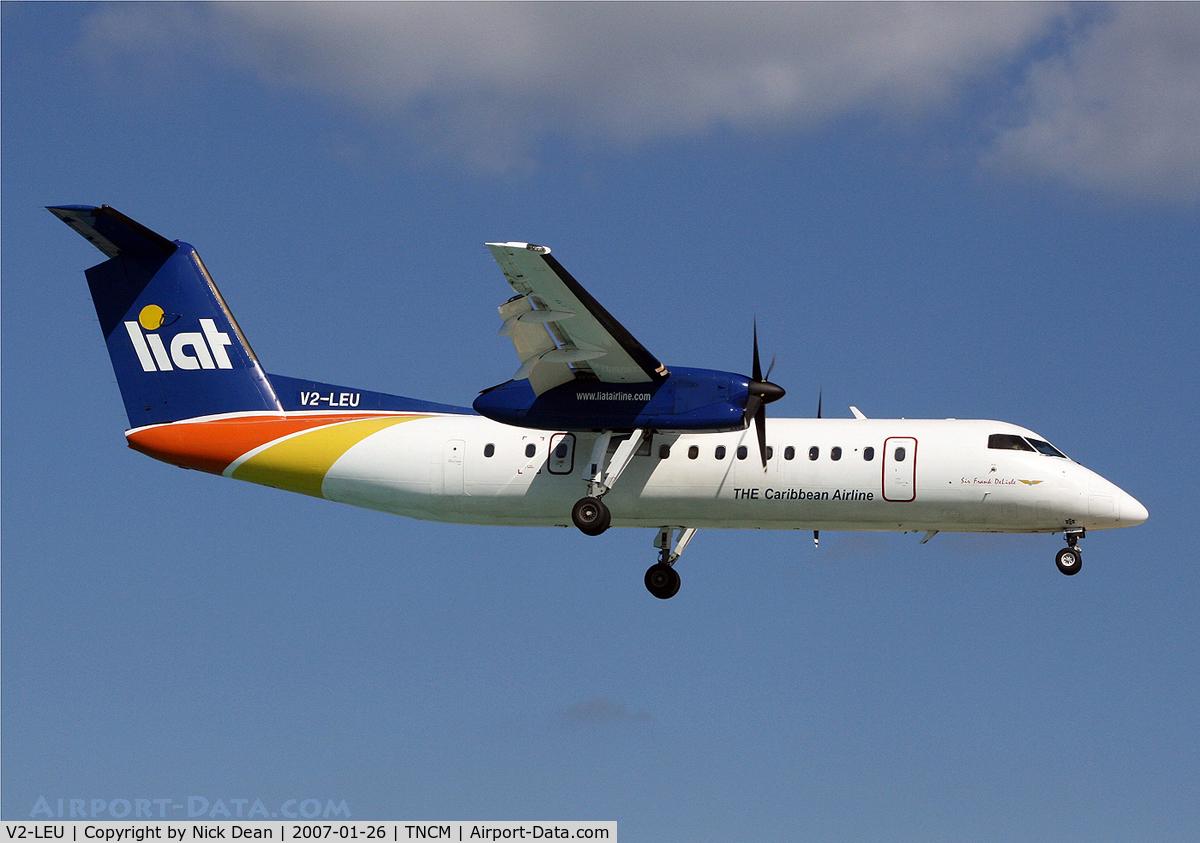 V2-LEU, 1995 De Havilland Canada DHC-8-311B Dash 8 C/N 408, TNCM