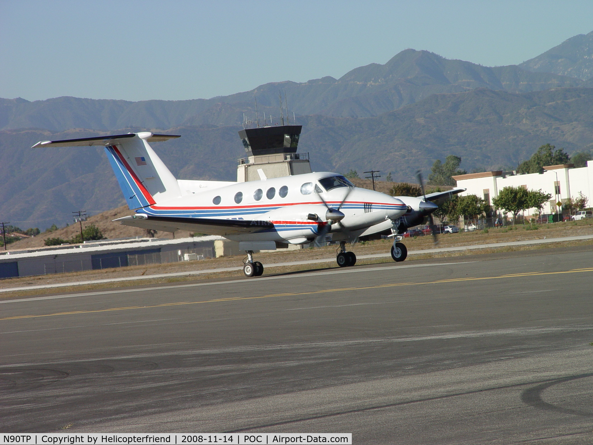 N90TP, 1980 Beech F90 King Air C/N LA-66, Taxiing for take off at Brackett