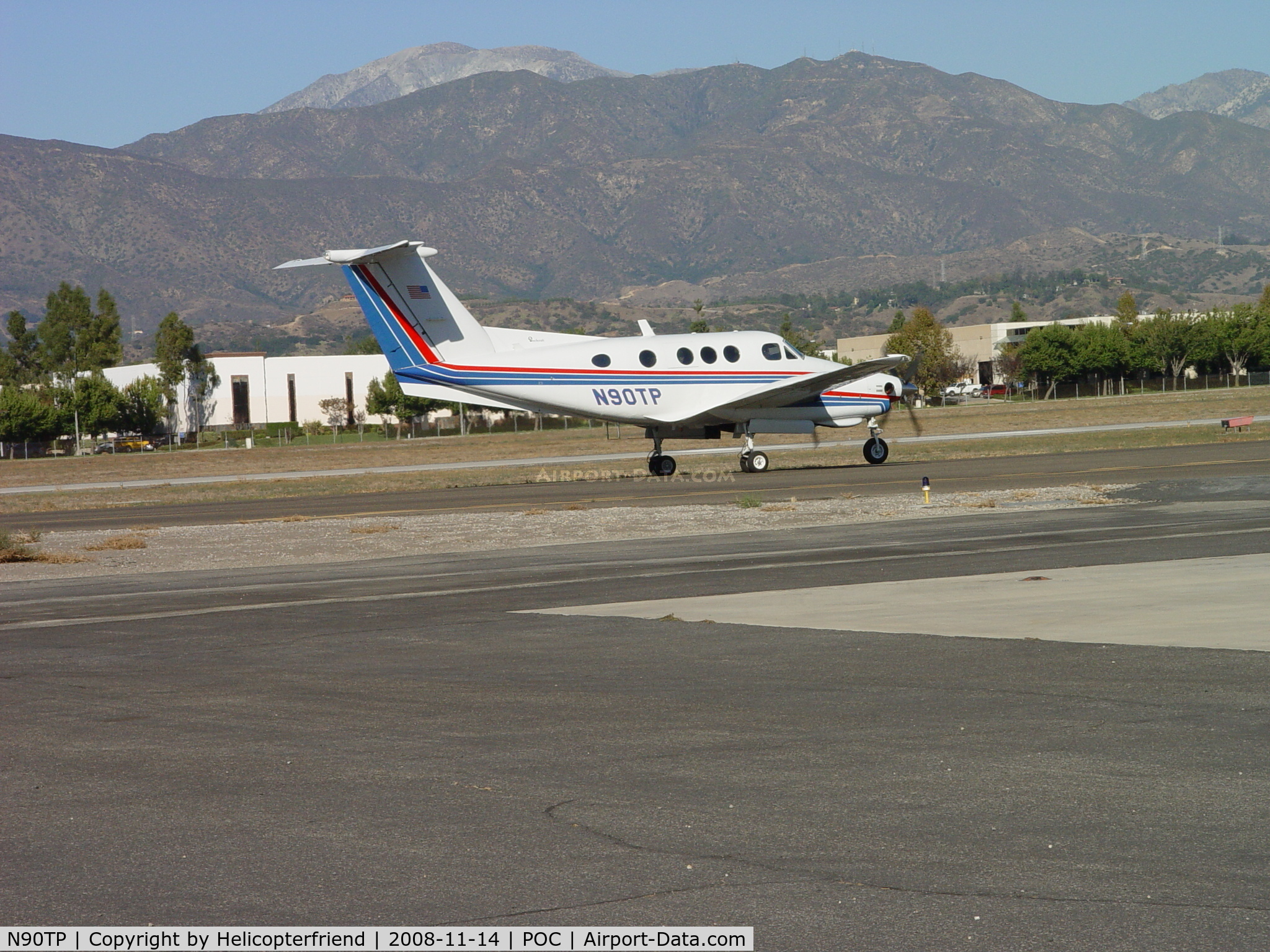 N90TP, 1980 Beech F90 King Air C/N LA-66, Approaching warm-up area before take off