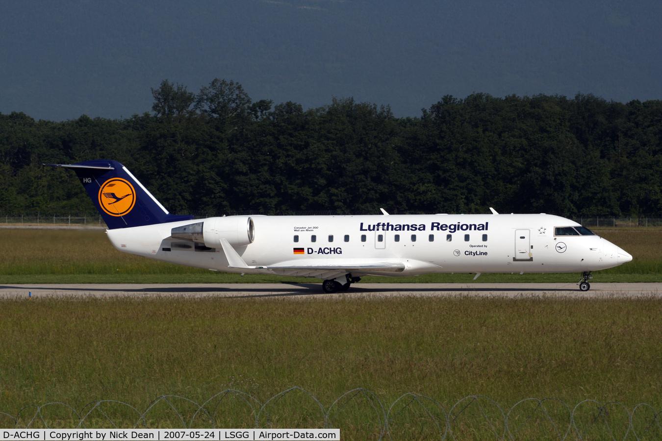 D-ACHG, 2000 Bombardier CRJ-200ER (CL-600-2B19) C/N 7439, /