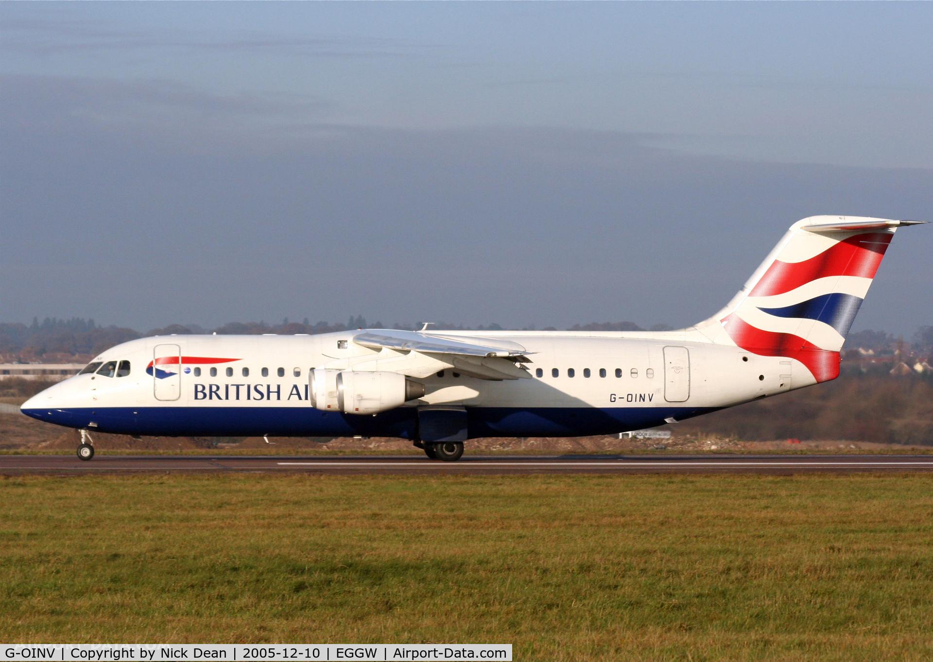 G-OINV, 1990 British Aerospace BAe.146-300 C/N E3171, /