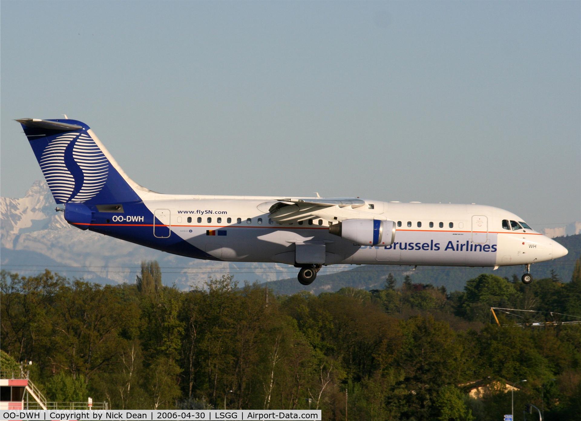 OO-DWH, 1998 British Aerospace Avro 146-RJ100 C/N E3340, /