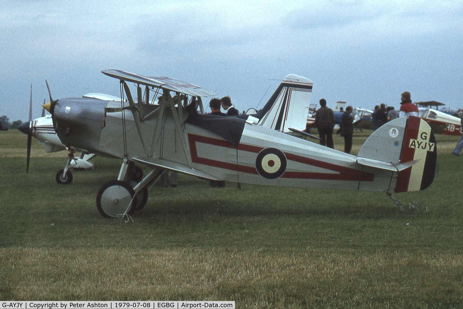 G-AYJY, 1975 Isaacs Fury II C/N PFA 1373, PFA Rally 1979