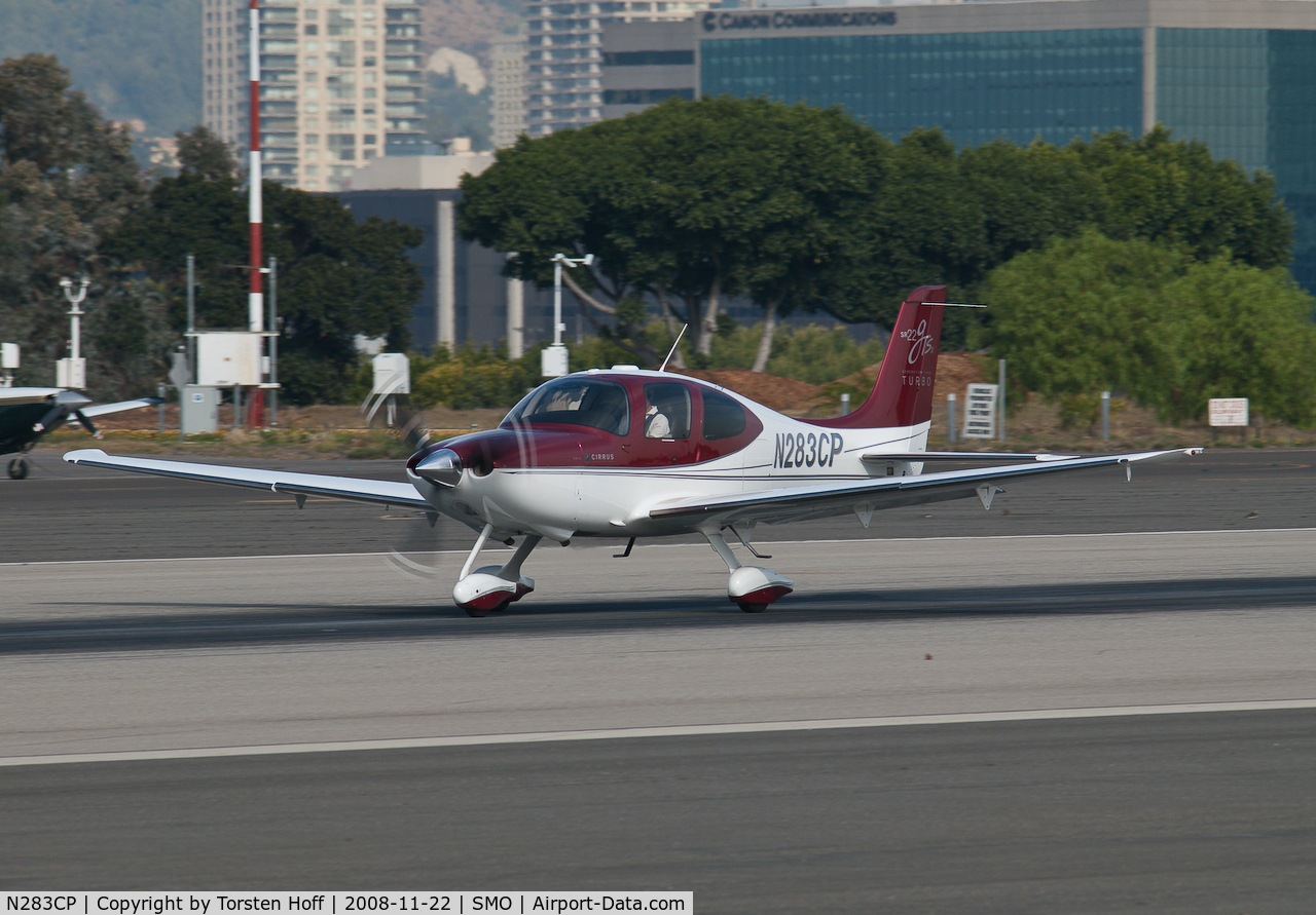 N283CP, 2008 Cirrus SR22 C/N 3224, N283CP departing from RWY 21