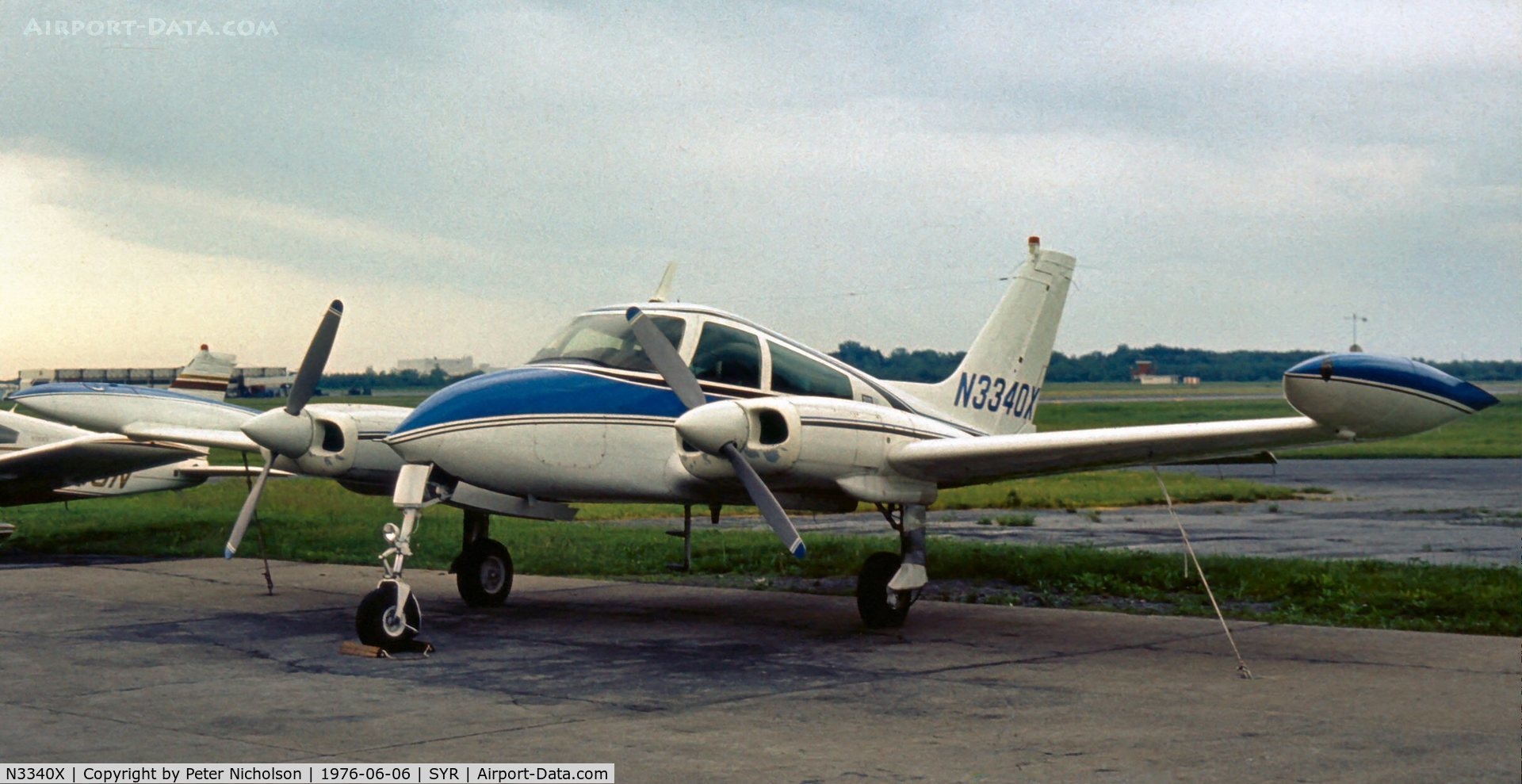 N3340X, 1967 Cessna 310L C/N 310L-0190, Parked at Syracuse in 1976
