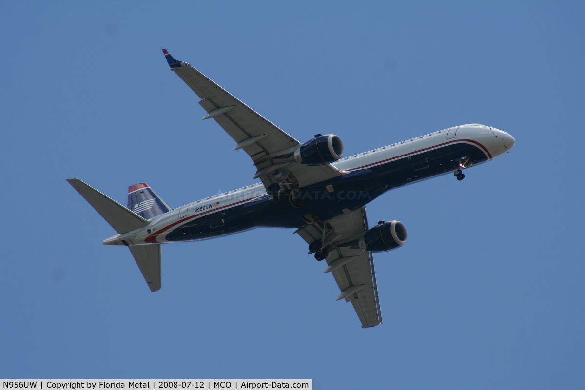N956UW, 2008 Embraer ERJ-190-100 IGW 190AR C/N 19000156, US Airways E190