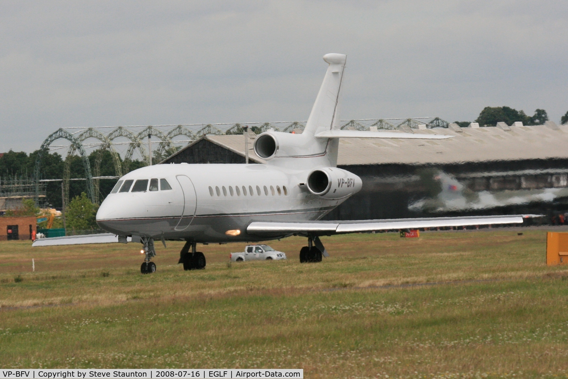 VP-BFV, 2002 Dassault Falcon 900EX C/N 111, Taken at Farnborough Airshow on the Wednesday trade day, 16th July 2009
