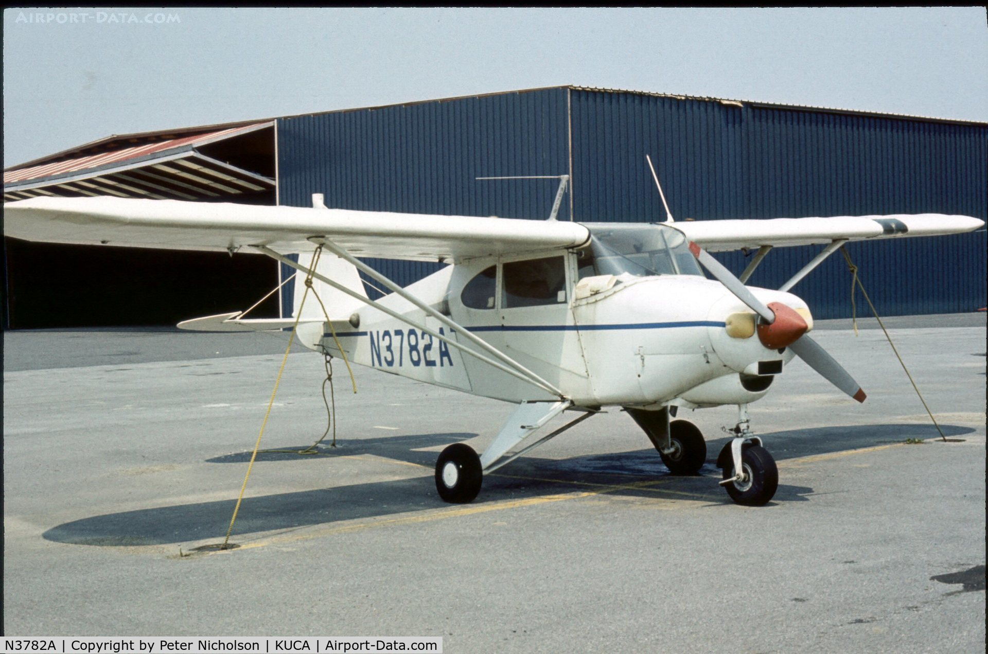 N3782A, 1953 Piper PA-22-135 Tri-Pacer C/N 22-2024, This Colt was seen at Oneida County Airport, New York State in 1976. Airport closed in 2007.