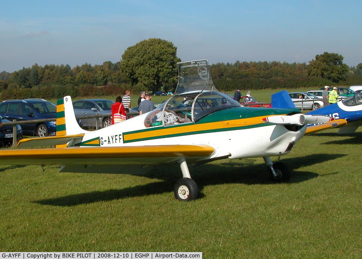 G-AYFF, 1971 Rollason Druine D-62B Condor C/N RAE/647, SMART CONDOR POPHAM END OF SEASON FLY-IN 2008.
