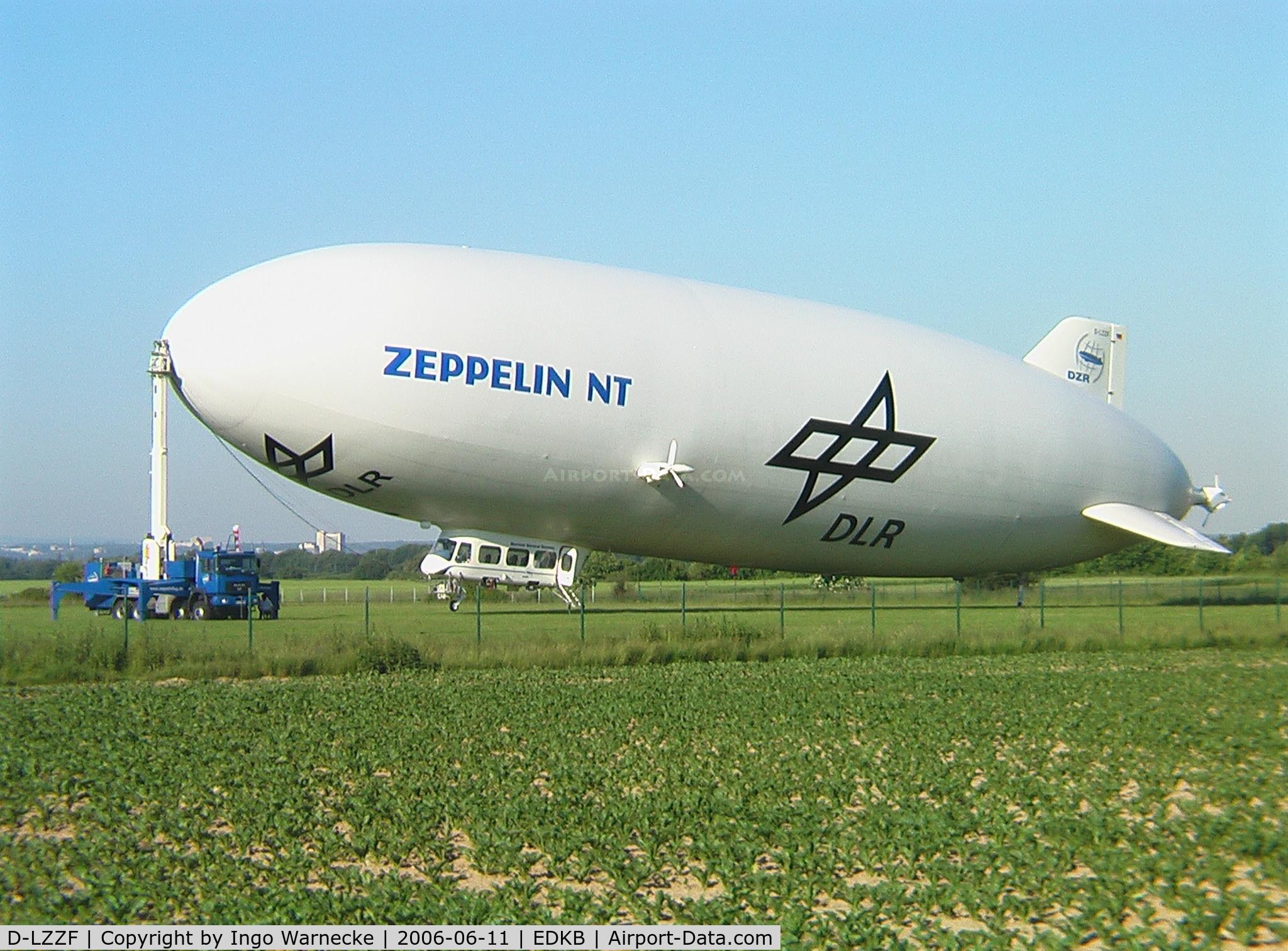 D-LZZF, 1998 Zeppelin LZ-N07 C/N 3, Zeppelin NT - Deutsche Zepplin Reederei / DLR at Bonn/Hangelar airfield