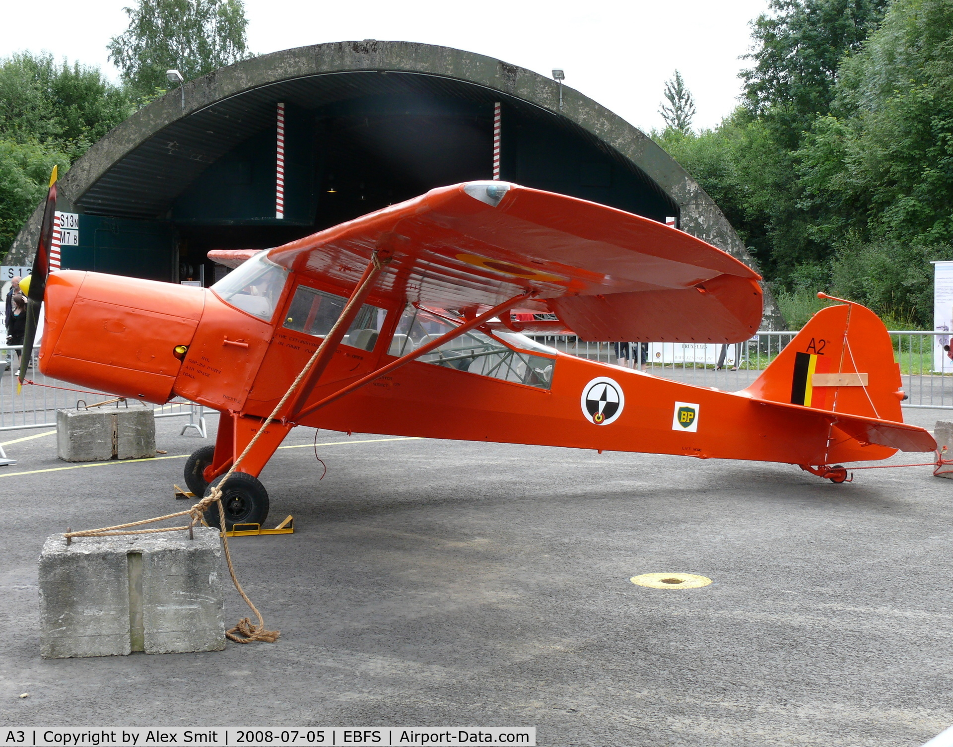 A3, Auster AOP.6 C/N 2818, Auster AOP6 A3 Belgian Air Force painted as A2 in the colors of the Belgian Arctic expeditions,